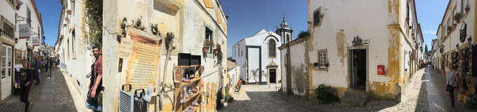 Old town of Obidos - Portugal. royalty free stock images