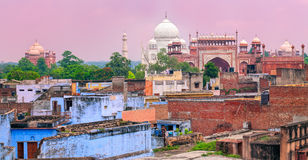 Free Old Town Of Agra With Taj Mahal, India Royalty Free Stock Photo - 68401055