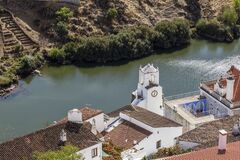 Free Old Town Of Mertola With Guadiana River And Clock Tower, Stock Photography - 203466642