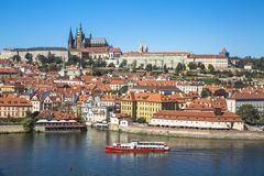 Old Town Of Prague And Prague Castle, Czech Republic. Royalty Free Stock Photos