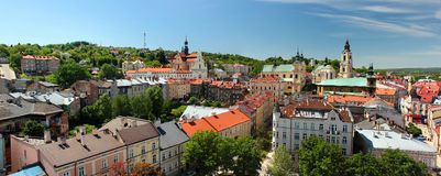 Free Old Town Of Przemysl, Poland. Panorama From The Clock Tower. Stock Photos - 136788423