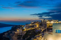 Old Town of Oia or Ia on the island Santorini Royalty Free Stock Photo