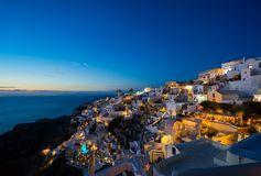 Old Town of Oia on the island Santorini Royalty Free Stock Photos