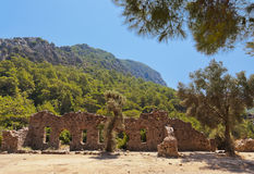 Old town Olympos in Turkey. Travel background Stock Photos