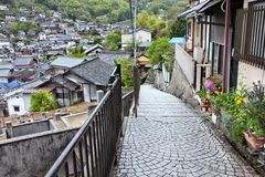 Old Town Onomichi. Old Town of Onomichi, Japan. Travel destination in Chugoku region stock photo