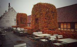 The old town outdoor café, Aarhus Denmark Stock Image