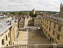 The old town of Oxford, England,. UK stock images