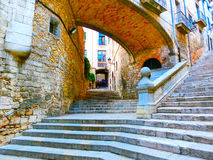 Old town of Pals in Girona, Catalonia, Spain. Old town of Pals in Girona, Catalonia at Spain Royalty Free Stock Images