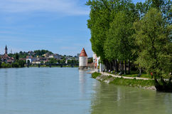Old town of passau. Old town of historical bavarian city of passau in germany royalty free stock images