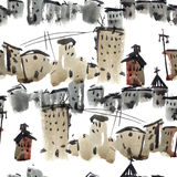 Old town pattern Royalty Free Stock Photography