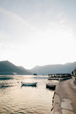 The old town of Perast on the shore of Kotor Bay, Montenegro. Th Royalty Free Stock Images