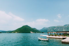 The old town of Perast on the shore of Kotor Bay, Montenegro. Th Royalty Free Stock Photography