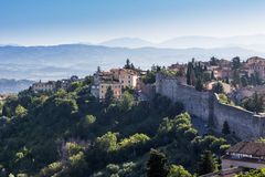 Old town of Perugia, Umbria, Italy Stock Images