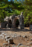 Old town Phaselis in Antalya, Turkey Royalty Free Stock Photo
