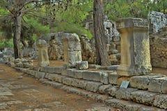 Old town Phaselis in Antalya, Turkey Stock Photo