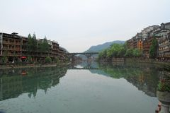 The Old Town of Phoenix;fenghuang ancient town Stock Photos