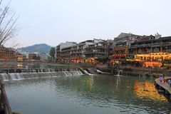 The Old Town of Phoenix;fenghuang ancient town Royalty Free Stock Images