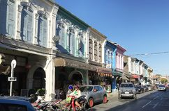 The Old town, Phuket, Thailand royalty free stock images