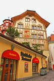 Old town picturesque buildings Lucerne Switzerland Stock Photography