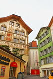 Old town picturesque street Lucerne Switzerland Royalty Free Stock Photography