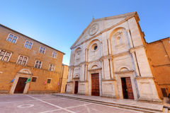 Old town of Pienza in Tuscany, Italy. Historic Cathedral Royalty Free Stock Photos
