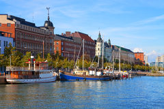 Old Town Pier In Helsinki, Finland Royalty Free Stock Photos