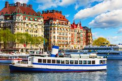 Old Town pier in Stockholm, Sweden Royalty Free Stock Photos