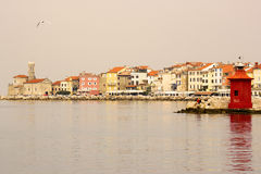 Old town Piran - beautiful Slovenian adriatic coast Royalty Free Stock Photography