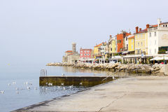 Old town Piran - beautiful Slovenian adriatic coast Royalty Free Stock Photo
