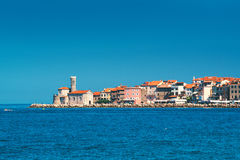 Old town Piran on Slovenian adriatic coast Stock Photo