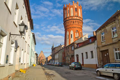 Old town of polish street Stock Image