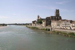 Old town of Pont Saint Esprit, France Stock Images