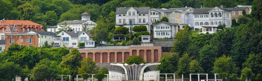 Old town port sassnitz panorama. Ruegen architecture Royalty Free Stock Image