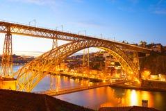 Dom Luis bridge. Porto, Portugal Stock Photography