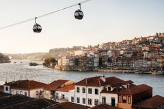 Old town of Porto on Douro River, Portugal. stock images