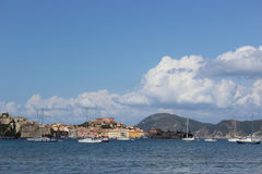 The old town of Portoferraio from the thermae Royalty Free Stock Photo