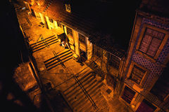 Old town. Portugal old town streets at night Royalty Free Stock Photo