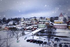Old Town of Porvoo, Finland stock photography