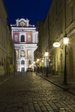 Old town in Poznan. Collegiate Church of Our Lady of Perpetual Help and St.. Mary Magdalene in Poznan, Poland. Evenin on April 3, 2012 Poznan is host city Uefa stock image