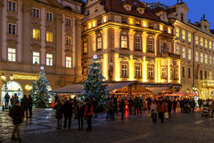 Old town of Prague at Christmas time. Stock Photography