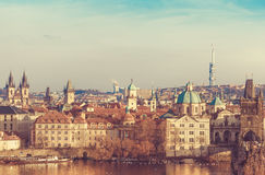 Old town Prague Czech Republic over river Royalty Free Stock Photo
