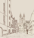Old Town of Prague, Czech Republic. Pedestrian street in old city Royalty Free Stock Image