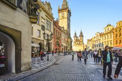 Free Old Town Prague, Czech Republic Town Square With The Astonomical Clock And The Our Lady Before Tyn Church Towers And Spires Royalty Free Stock Photography - 185706657