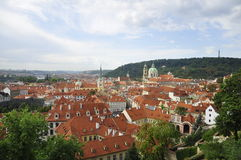Old town in Prague, Czech Republic. The old town in Prague, view from the stairway to the Prague castle Stock Photos