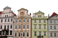 Old Town Prague Houses Stock Photography