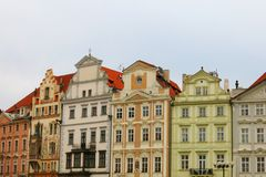 Old Town Prague Houses Royalty Free Stock Photo