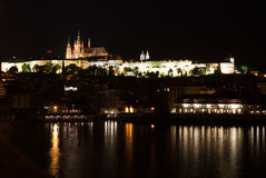 Old town at prague in the night Royalty Free Stock Photos