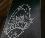 Old town pub in Kaunas stock images