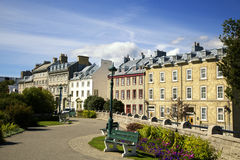 Old town in Quebec city Stock Photo