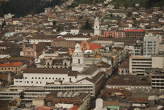 Old town of Quito Stock Images